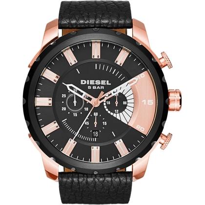 Diesel DZ4347 Horlogeband Zwart Leer