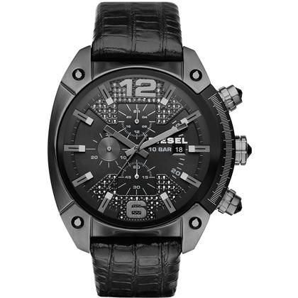 Diesel DZ4372 Horlogeband Zwart Leer