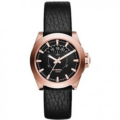 Diesel DZ1733 Horlogeband Zwart Leer