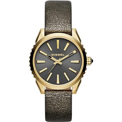 Diesel DZ5476 Horlogeband Goud Leer