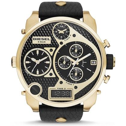 Diesel DZ7323 Horlogeband Zwart Leer