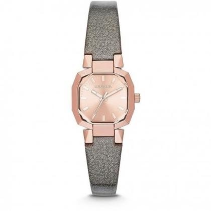 Diesel DZ5398 Horlogeband Grijs Leer