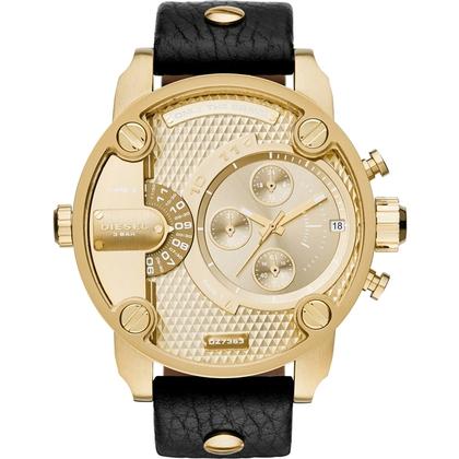 Diesel DZ7363 Horlogeband Zwart Leer