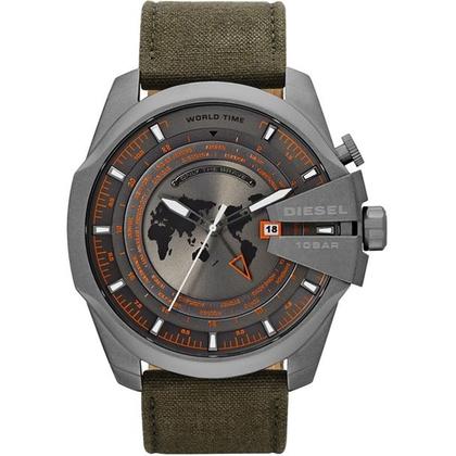 Diesel DZ4307 Horlogeband Groen Leer