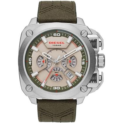 Diesel DZ7367 Horlogeband Groen Leer