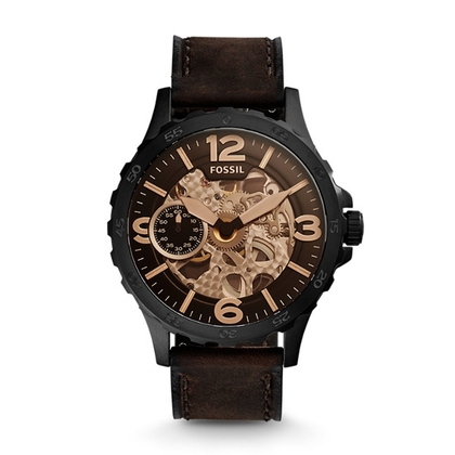 Fossil ME3127 Horlogeband Bruin Leer