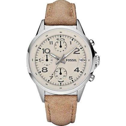 Fossil CH2714 Horlogeband Beige Leer