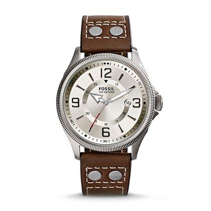 Fossil FS4936 Horlogeband Bruin Leer