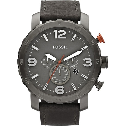 Fossil JR1419 Horlogeband Grijs Leer