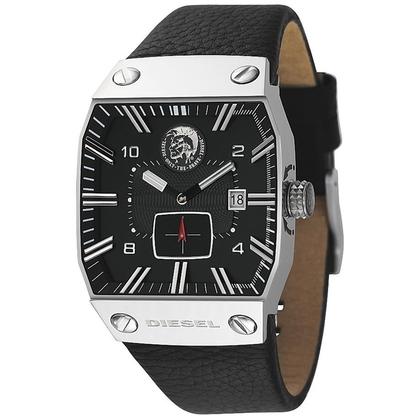 Diesel DZ9012 Horlogeband Zwart Leer