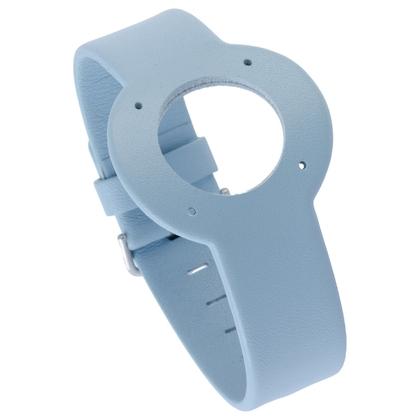 Jacob Jensen horlogeband Strata Lichtblauw Leer 20mm