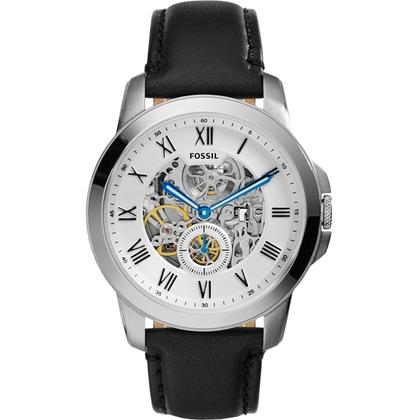 Fossil ME3053 Horlogeband Zwart Leer
