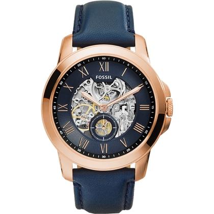 Fossil ME3054 Horlogeband Blauw Leer
