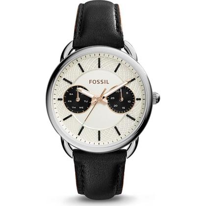 Fossil ES3953 Horlogeband Zwart Leer