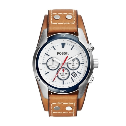 Fossil CH2986 Horlogeband Bruin Leer