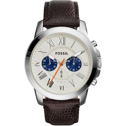Fossil FS5021 Horlogeband Bruin Leer