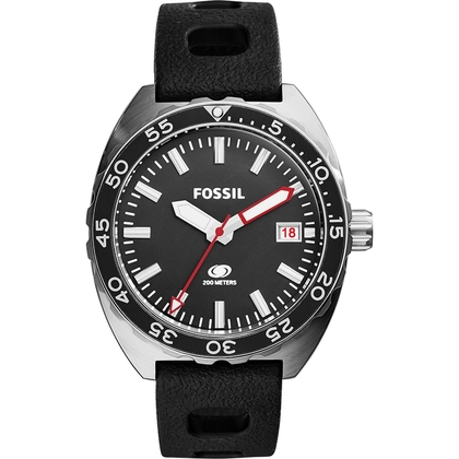 Fossil FS5053 Horlogeband Zwart Silicone