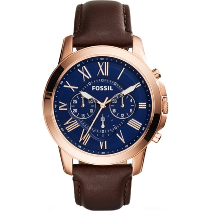 Fossil FS5068 Horlogeband Bruin Leer
