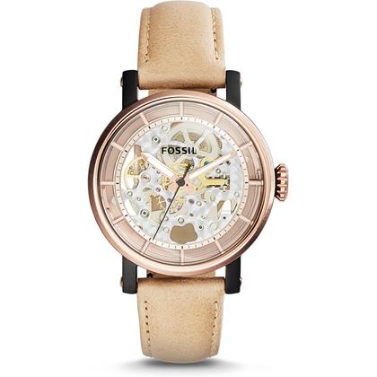 Fossil ME3079 Horlogeband Beige Leer