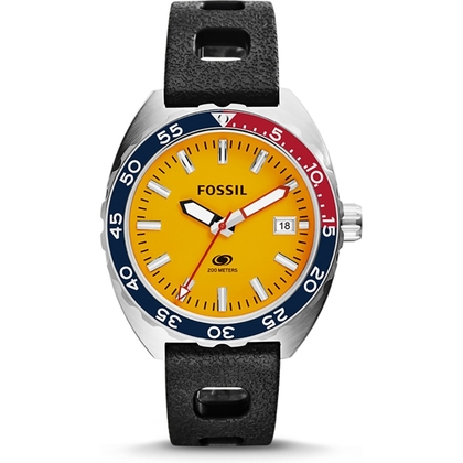 Fossil FS5052 Horlogeband Zwart Silicone