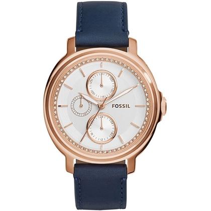 Fossil ES3832 Horlogeband Blauw Leer