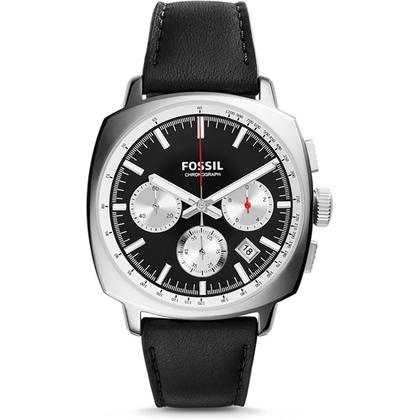 Fossil CH2984 Horlogeband Zwart Leer