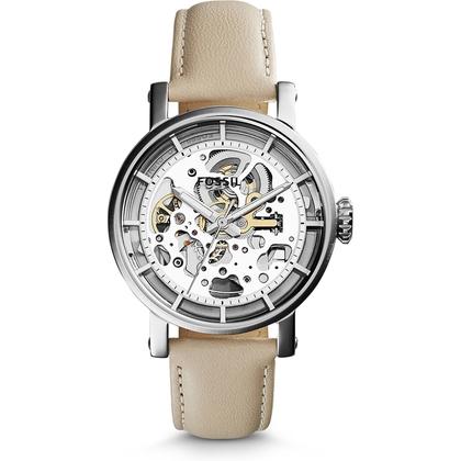 Fossil ME3069 Horlogeband Beige Leer