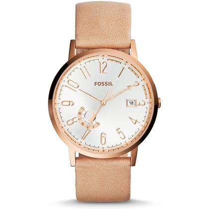 Fossil ES3751 Horlogeband Beige Leer