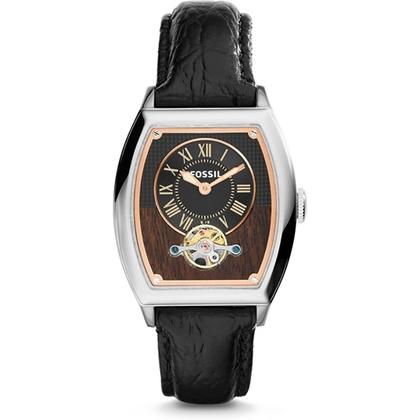 Fossil ME3047 Horlogeband Zwart Leer