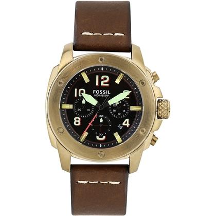 Fossil FS5065 Horlogeband Bruin Leer