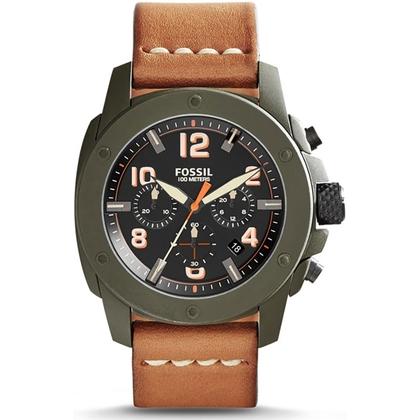 Fossil FS5035 Horlogeband Bruin Leer