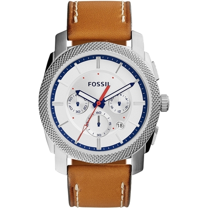 Fossil FS5063 Horlogeband Bruin Leer
