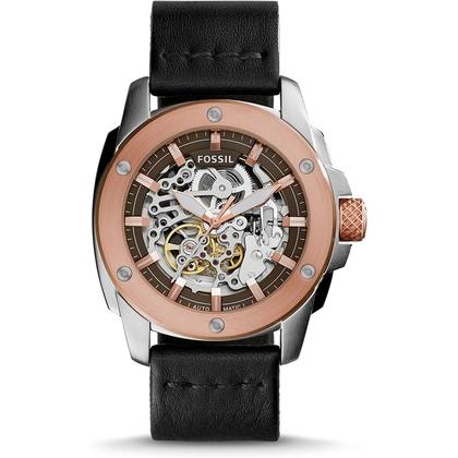 Fossil ME3082 Horlogeband Zwart Leer