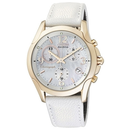 Citizen Elegance Eco Drive FB1152-01D Horlogeband Wit - 18mm
