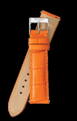 Fromanteel Alligatorgrain Horlogeband Oranje