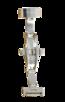 Fromanteel Alligatorgrain Horlogeband Donkerbruin Wit Stiksel