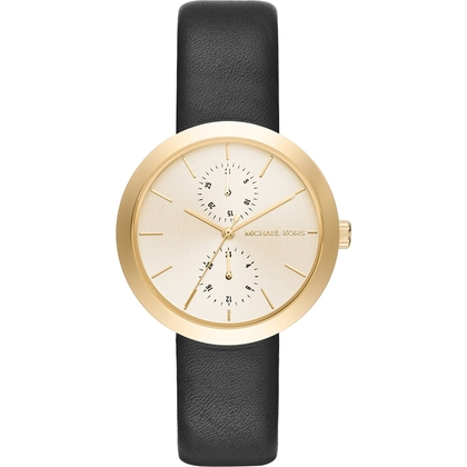 Michael Kors MK2574 Horlogeband Zwart Leer