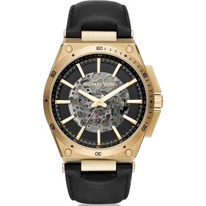 Michael Kors MK9031 Horlogeband Zwart Leer