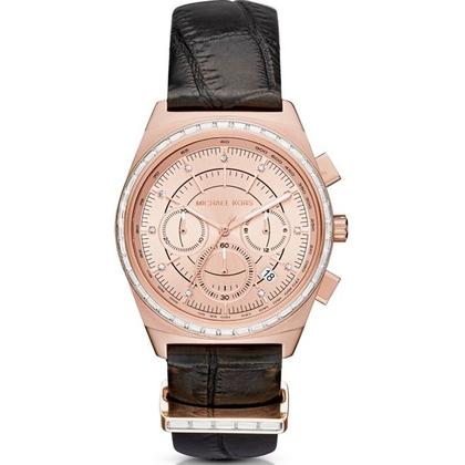 Michael Kors MK2616 Horlogeband Zwart Leer