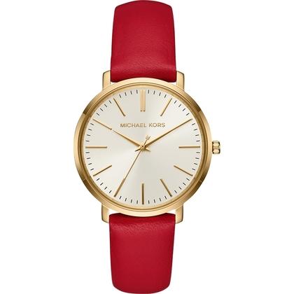 Michael Kors MK2596 Horlogeband Rood Leer