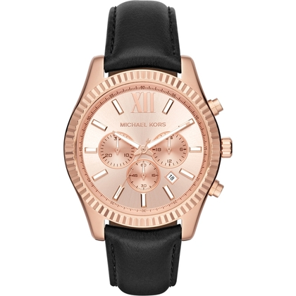 Michael Kors MK8516 Horlogeband Zwart Leer