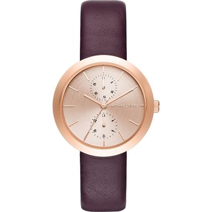 Michael Kors MK2575 Horlogeband Paars Leer