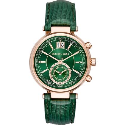 Michael Kors MK2581 Horlogeband Groen Leer