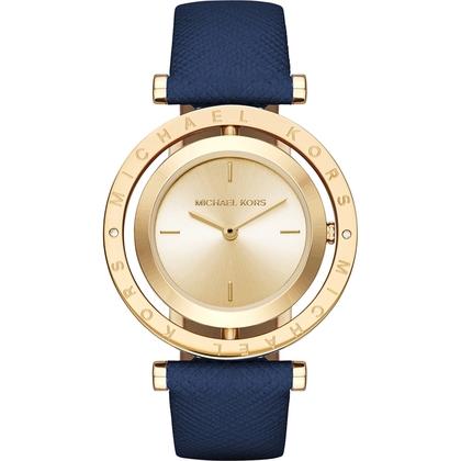 Michael Kors MK2526 Horlogeband Blauw Leer