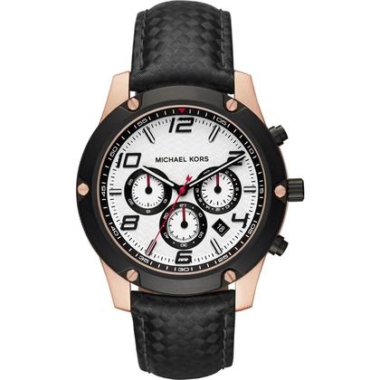 Michael Kors MK8489 Horlogeband Zwart Leer