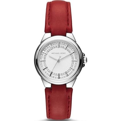 Michael Kors MK2474 Horlogeband Rood Leer