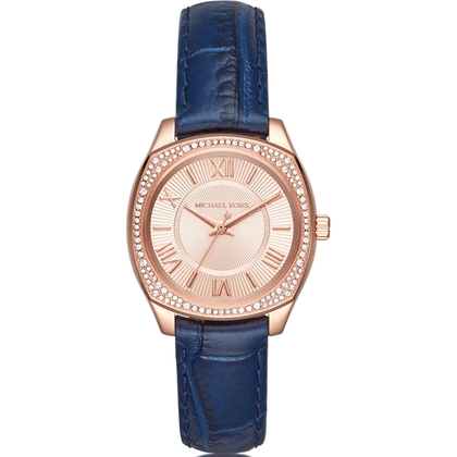 Michael Kors MK2593 Horlogeband Blauw Leer