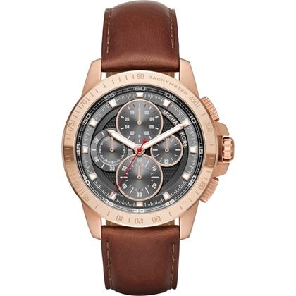 Michael Kors MK8519 Horlogeband Bruin Leer