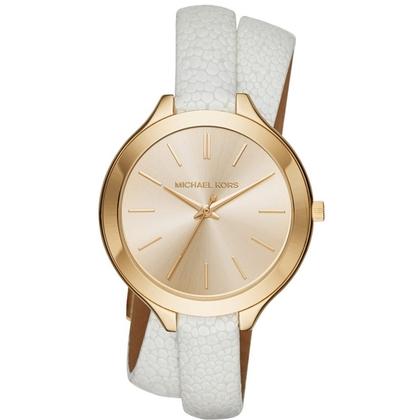 Michael Kors MK2477 Horlogeband Wit Leer