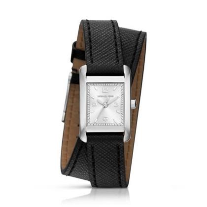 Michael Kors MK2497 Horlogeband Zwart Leer